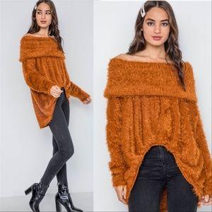 ERICKA Soft Fuzzy Sweater